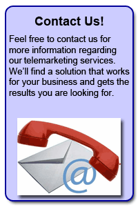 Contact Us: Get Started on Your Telemarketing Program Today!